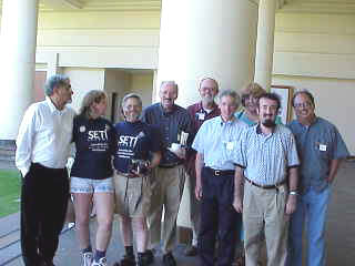 Some of the SETI League members attending the 1999 Bioastronomy Meeting.